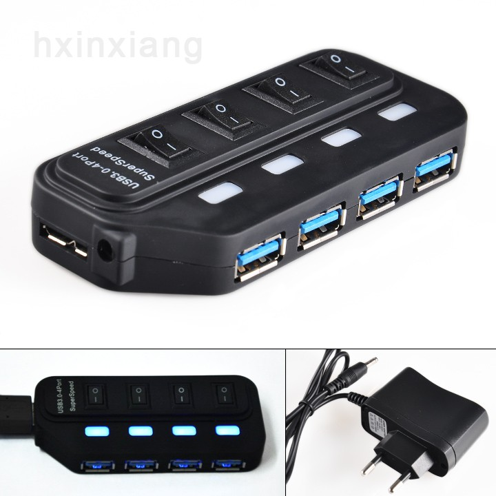 Mini USB High Speed 4-Port 4 Port USB HUB 3.0 Sharing Switch For Laptop PC Notebook Computer 25