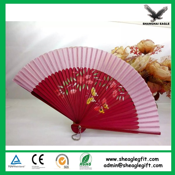 Promotional Spanish Hand Fans Wooden Printed