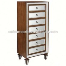 Hottest cheap price hot sale glass chest of drawers