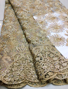 TS49-5 wholesale latest embroidery designs well-know french beaded sequined lace fabric