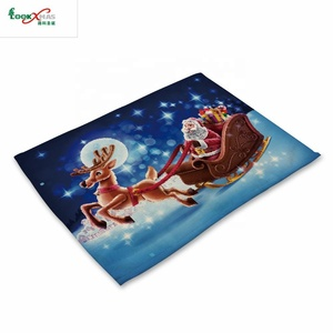 Hot sell table mat eco-friendly christmas decorative cotton placemat