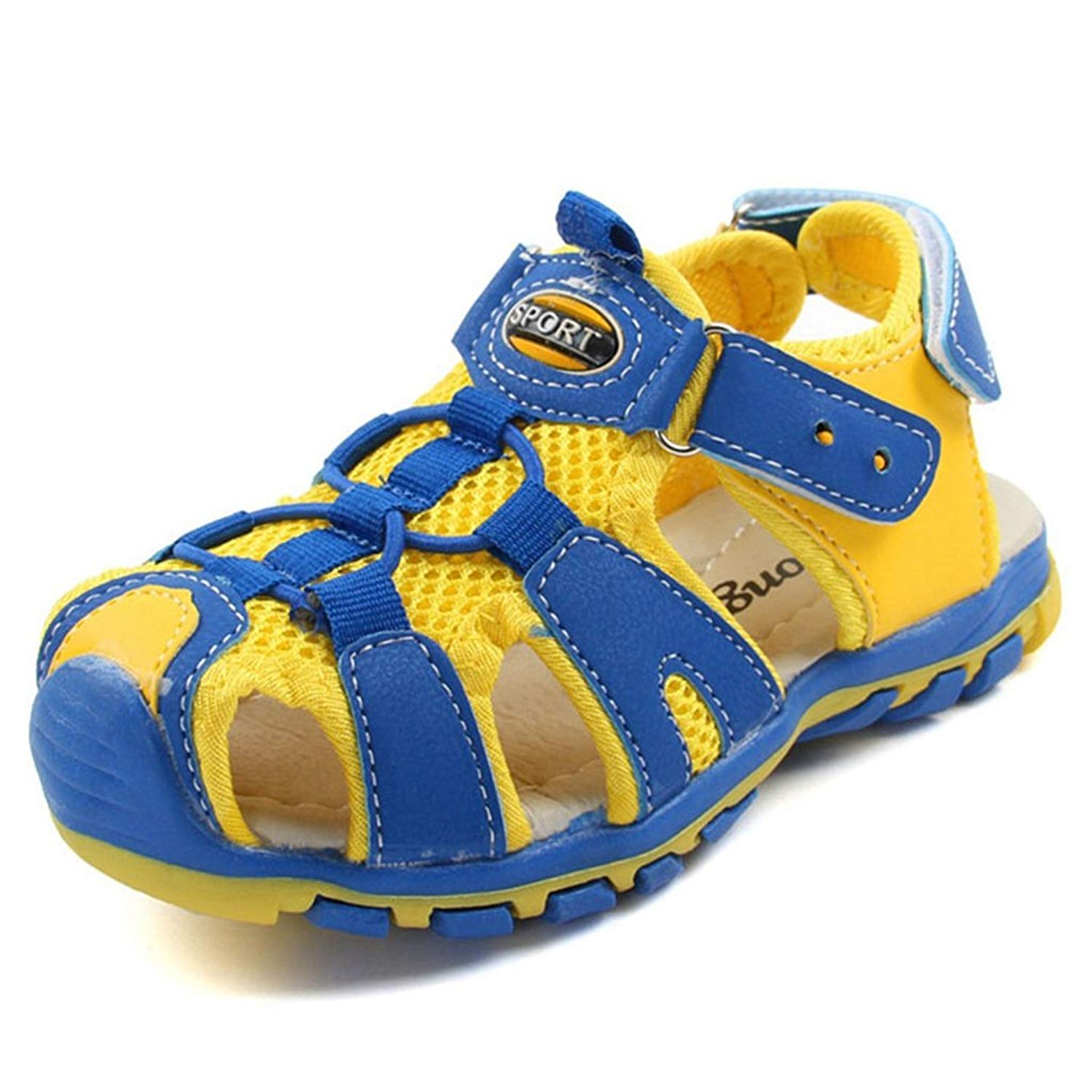 3e5dad62e3a78 Get Quotations · Boys Girls Outdoor Sport Closed-Toe Sandals Kids Athletic  Strap Breathable Mesh Water Sandals Shoes
