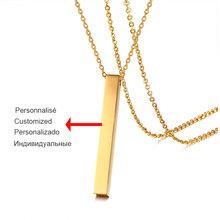 Vnox персонализированное ожерелье с квадратным стержнем, женское ювелирное изделие на русском и французском языках 100(Китай)