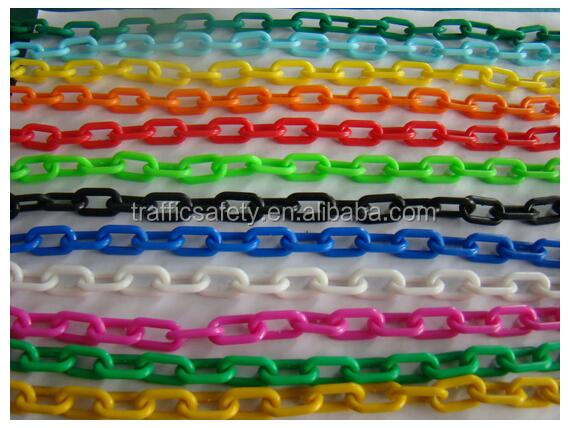 Details about  /Plastic Safety Chain 6mm x 3.8 Meter Roll Plastic Link Warning Chain