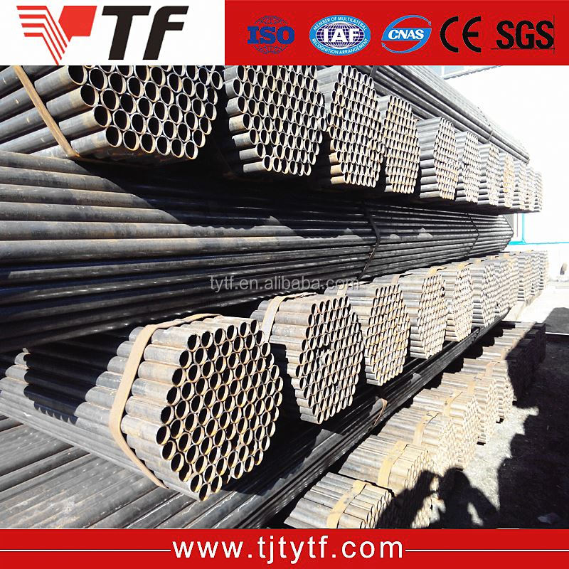 New premium black or bright for furniture sell erw dn 20 welded steel pipe