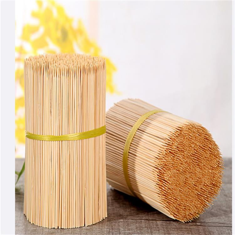 Free sample round and flexible bamboo fan sticks corn dog sticks