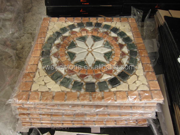 Square European Style Stone Mosaic Pattern Entrance