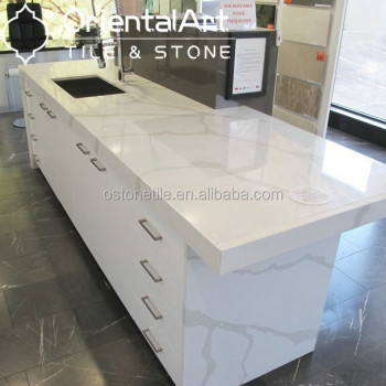 Beau Calacatta /carrelage Quartz Stone Slab/prefab Quartz Countertops
