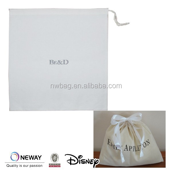 2015Cotton Travel Drawstring bag, Cotton Drawstring Pouch, Cotton Dust Cover