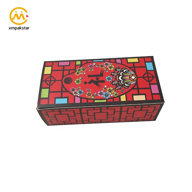 Eco friendly custom printing square foldable paperboard seed packaging paper box