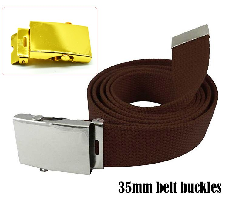 4CM Men's Military-Style Belt flip top metal military belt buckle
