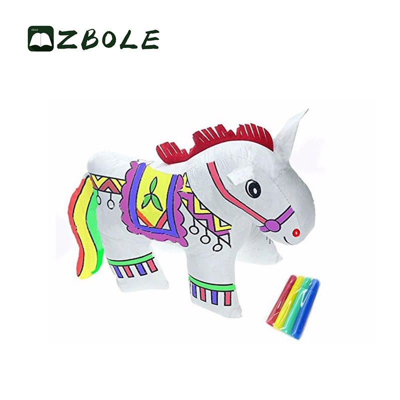 New Diy Painting Cute Tyvek Animal Hand Puppet Toy For Kids