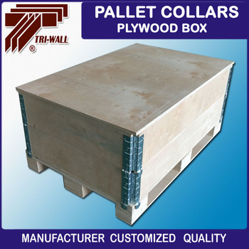 EURO Standard Plywood Pallet Collars Collapsible Crates Wooden