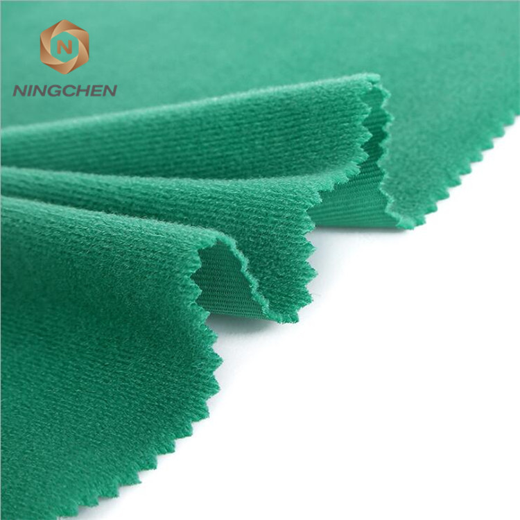 100% polyester one side brushed super poly brushed tricot fabric / Tricot brushed fabric