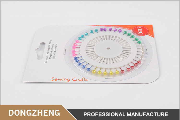 Hot sale multi colour sewing accessory round pearl head pin for ornament