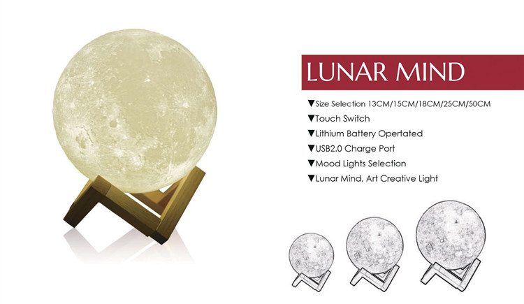 rotational molding pvc led lunar light,moon lighting