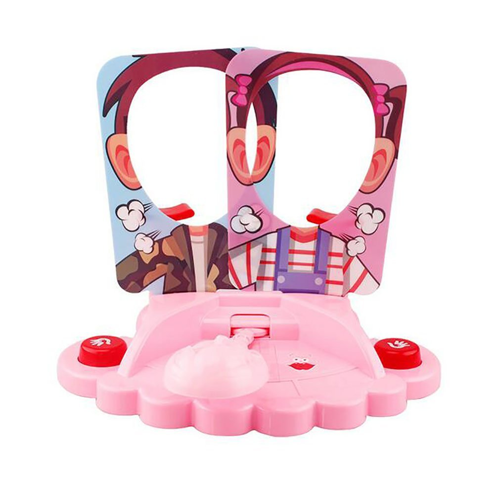 WishUlucky Pie Face Game Fun Family Two-player VS Game and Toy, Pink