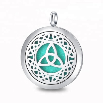 316L Stainless Steel Aromatherapy Locket Designs Essential Oil Diffuser Necklace