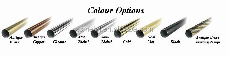 Square-FINIALS-curtain-ROD-draperies fits 25mm rod with 4 colors