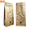 1KG Custom Heat Seal Aluminum Foil Lined Kraft Paper Side Gusset Coffee Bean Packaging Bag with Aroma Valve and Zipper China Fac