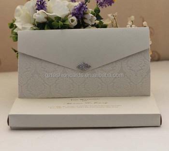 2016 luxury novelty pocketfold wedding invitation cards with buckle ... 1bde83315abd