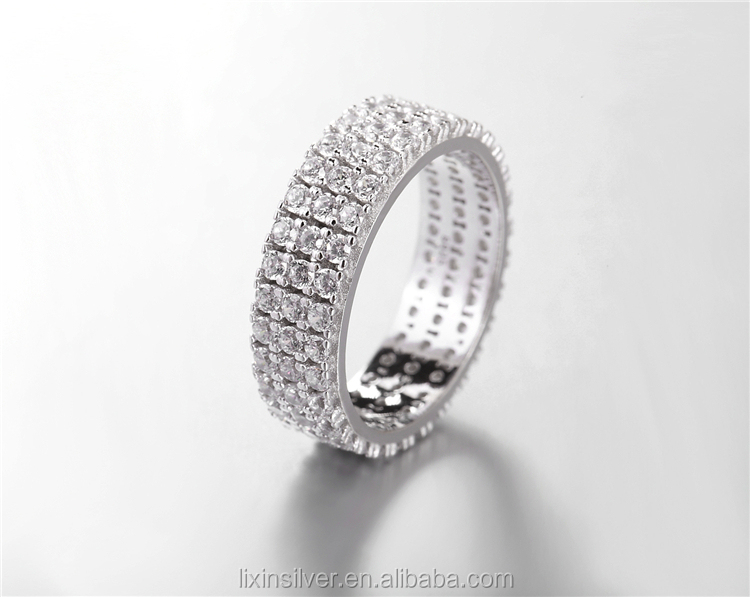 band cz beach eternity bands rings of zirconia cubic prong palm stack asscher set mystique ladies