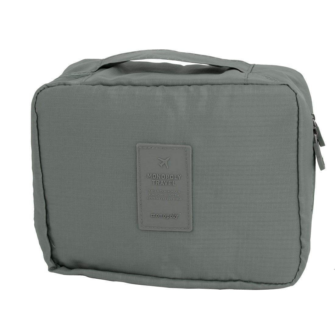 Travel Toiletry Toiletries Cosmetic Shaving Wash Bag Storage Case Gray