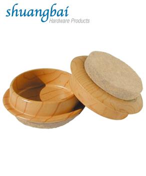 Wood Grain Effect Caster Cups Furniture Cups 1 3/4u0026quot;
