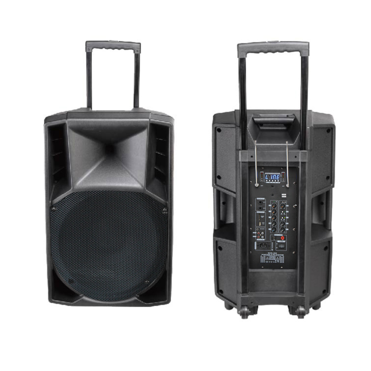Bluetooth Trolley Audio Box Speaker Made In China With Fm Radio And Earphone/headset
