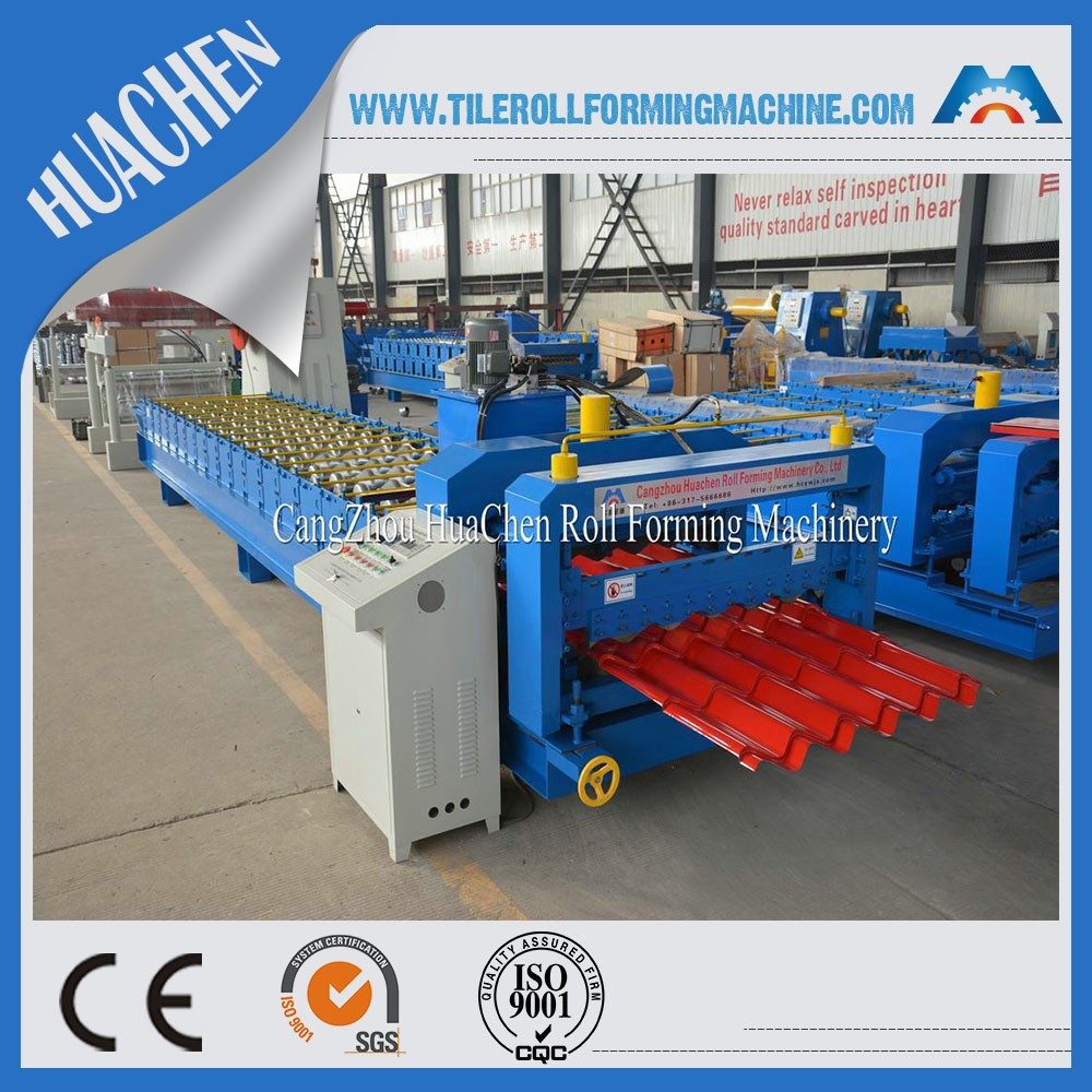 HC40 Roofing Sheet Glazed Tile Roll Forming Machine for South Africa