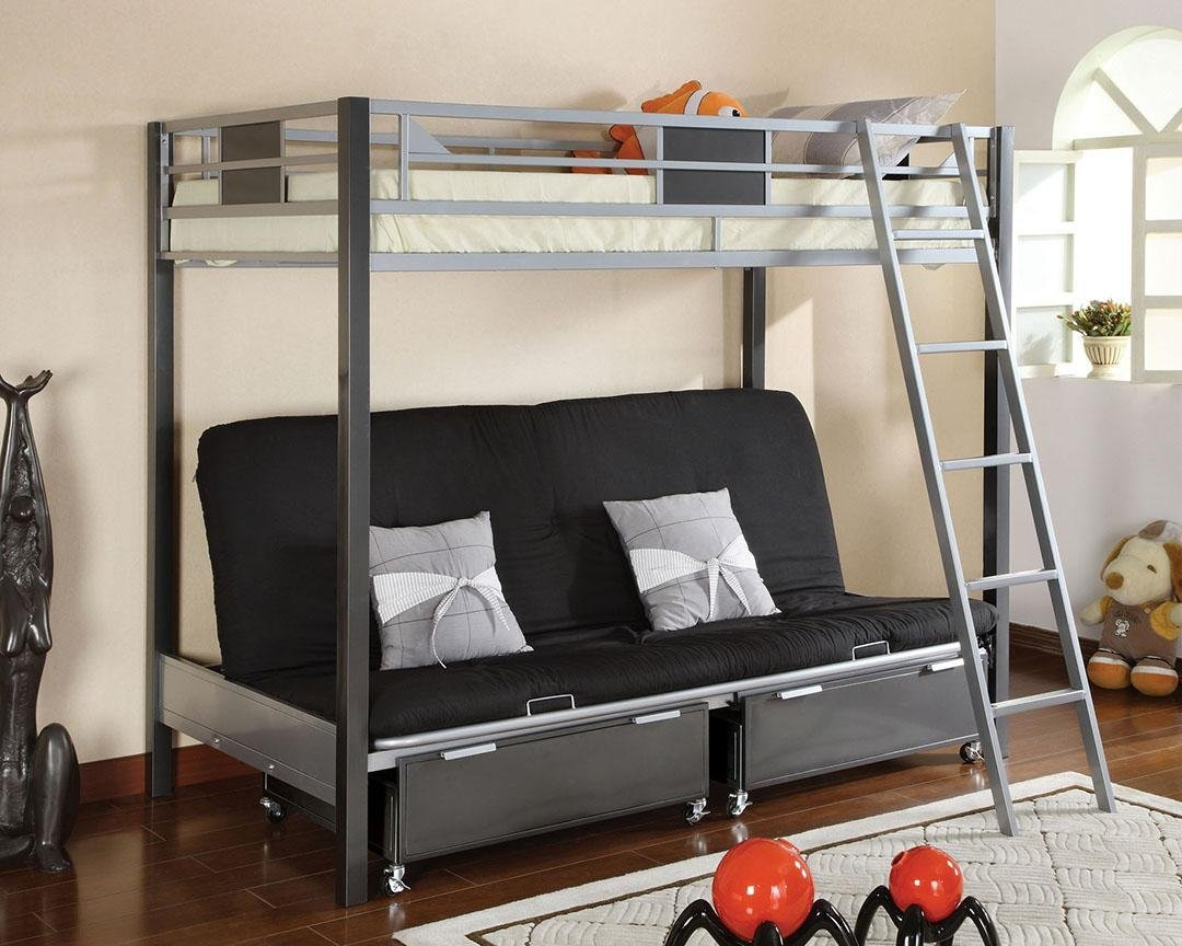 Get Quotations Contemporary Style Twin Futon Bunk Bed With Trundle