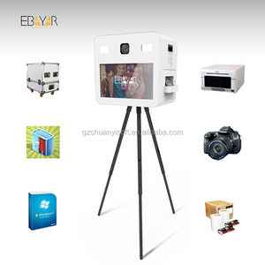 Cheap Social Media Photo Sticker Machine With Backdrop Booth