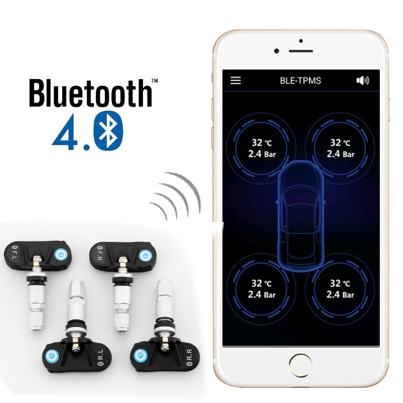 Exclusive factory supply Bluetooth Wireless TPMS with external sensors for tire pressure monitoring system