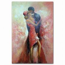lovers oil painting digital print on canvas