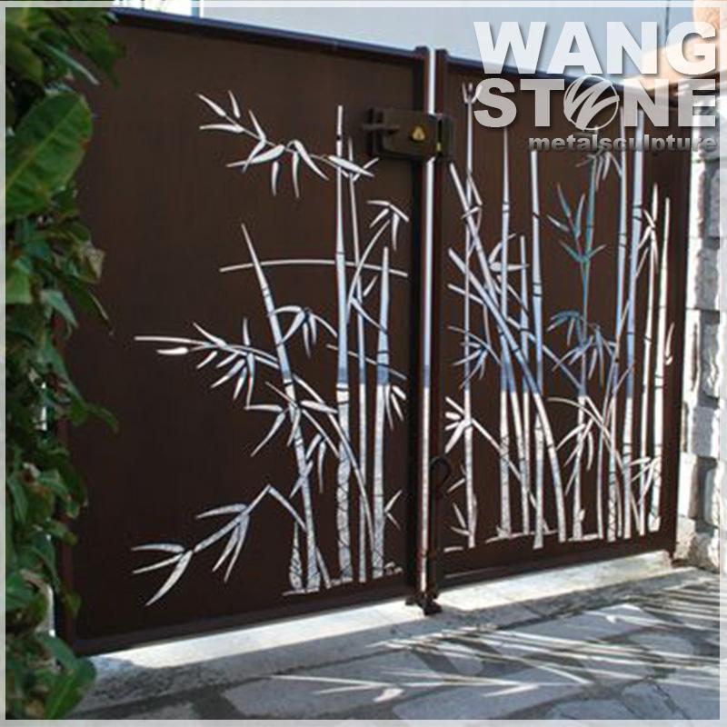 Bamboo Wall Art Laser Cut Outdoor Metal Screen