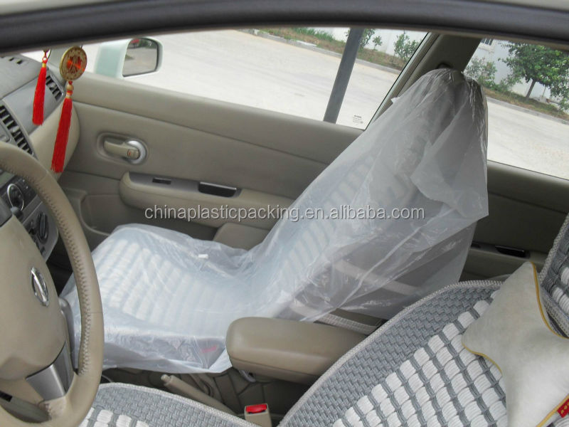 Printed Clear Disposable Plastic Car Seat Cover