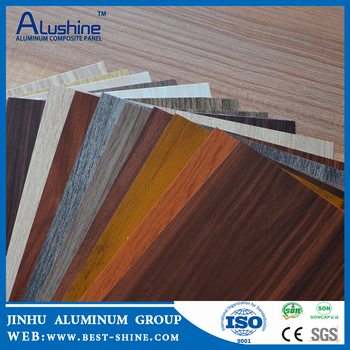 Weatherproof Building Covering Panels Exterior Wall Cladding Wooden Design  FR ACP