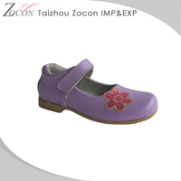 Specialized Unique Design School Girls Soft Sole Baby Leather Shoes