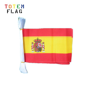 Outdoor promotional bunting banner with national flag design