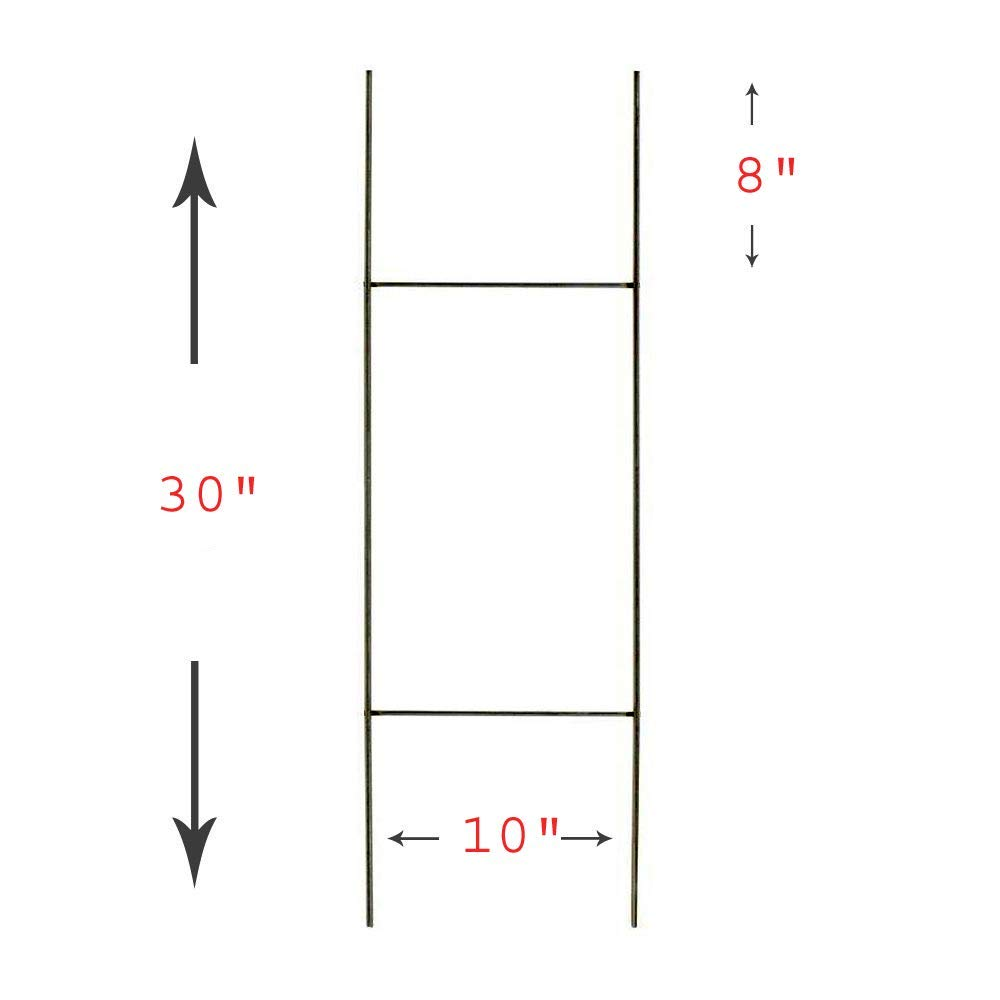 "25 Quantity H Frame Wire Stakes - Yard Sign Stakes 10"" x 30"" - Works Best with Corrugated Plastic Signs 4mm or 5mm, Yard Sign Stakes, H Wire Stakes"
