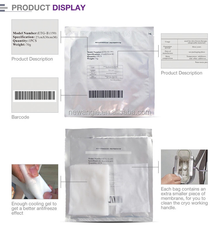 Criolipolisis antifreeze membrane skin protecting pad for cryolipolysis