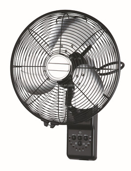 12 inch metal copper remote control wall fan wall mounted