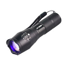 Top Selling UV 365nM 395nM 5W Power LED Aluminum Zoom UV flashlight lamp Black light Torch
