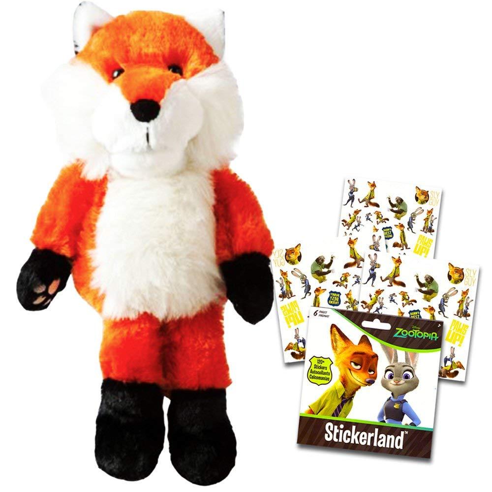 Fox Plush Toy Puppet Set Kids Toddlers -- Large Plush Fox Stuffed Animal Hand Puppet with Bonus Stickers!
