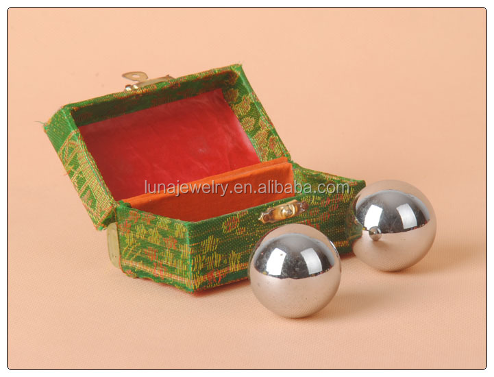 Chinese Healthy Balls,Exercise balls ,Thai Ji Balls silver painting