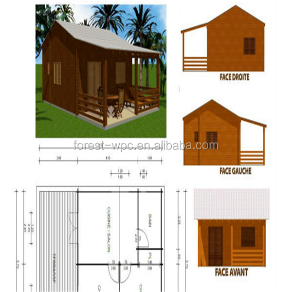 3000x4000mm Frstech Stylish Wpc House In The Garden High