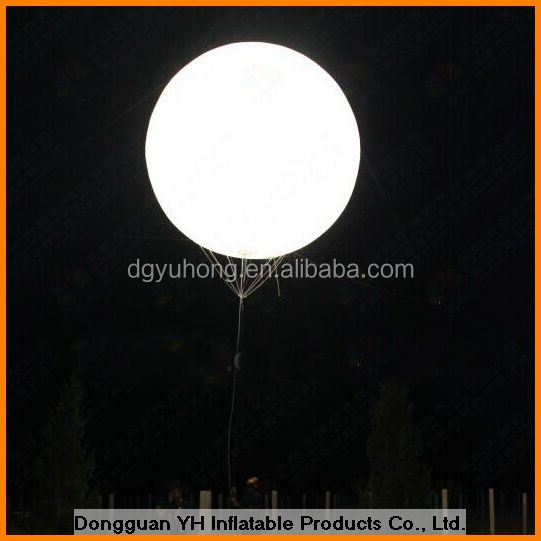 2.5m PVC inflatable LED balloon with RGB light