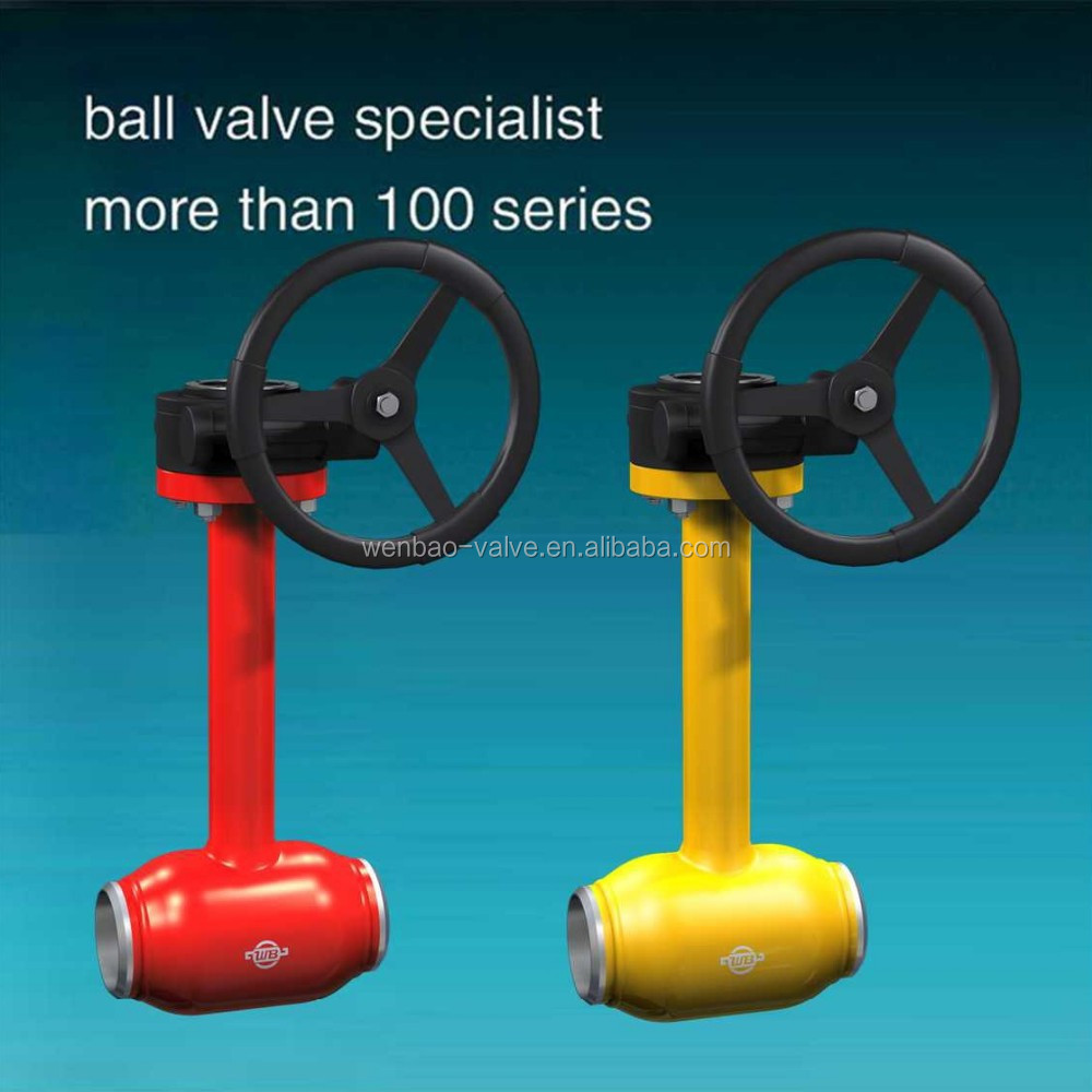 Underground Full Welded Ball Valve long stem valve