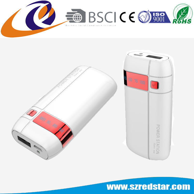 Shenzhen factory pass BSCI audit 5200mah battery mobile power bank charger