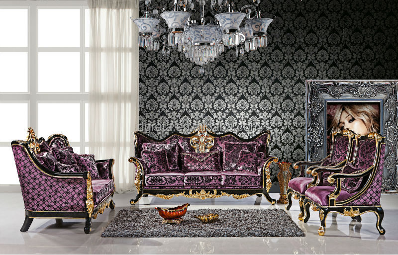 2014 Luxurious Royal Design Sofa Set Is Used Solid Wood,Fabric ...